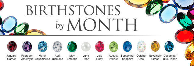 Birthstones by month - Start shopping jewlery with your birthstone!