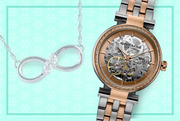Shop Jewelry & Watches and save 10% with promo code TIMEPIECE!