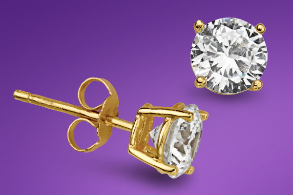 Free CZ Stud Earrings with any Jewelry purchase!