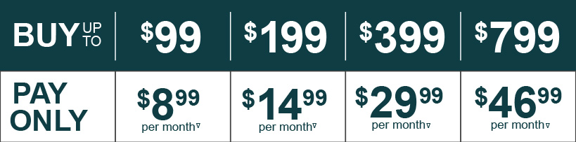 Apply now to get low monthly payments' like these with Fingerhut Credit issued by WebBank!