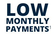 Shop a huge selection and make low monthly payments¹ on anything you buy.