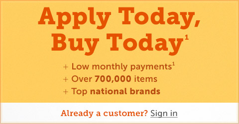 Apply Today, Buy Today and shop over 500,000 items!