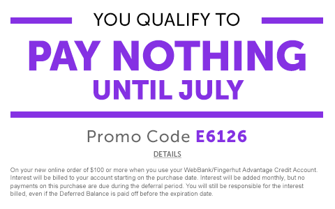 DETAILS: You qualify to pay nothing until July 2018!