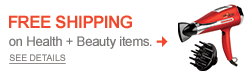 Free Shipping on Health + Beauty items!