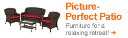 Shop Patio Furniture for a picture perfect patio!