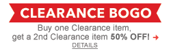 Buy on Clearance item, get a 2nd Clearance item 50% off!