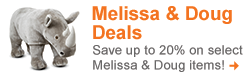 Save up to 20% on select Melissa & Doug items! Show Now