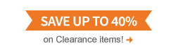 Shop Clearance and save up to 40%!