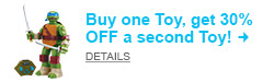 It's Toy BOGO Time! Buy one Toy, get 30% OFF the second Toy! Shop Now!