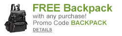 DETAILS: FREE Backpack with any purchase with promo code BACKPACK!