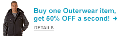 Outerwear BOGO! Buy one Outerwear item and get the second 50% OFF! Shop Now!