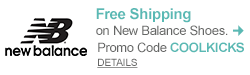 Free Shipping on New Balance Shoes - Promo code COOLKICKS