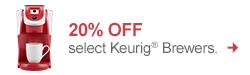20% off select Keurig Brewers - Shop now!