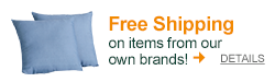 Free shipping on items from our own brands with promo code OURBRANDS!