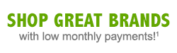 Shop great brands with low monthly payments!¹